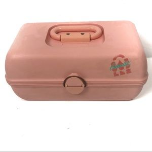 CABOODLES peach vintage makeup case